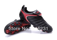 2013 Topsale kids soccer shoes Jingong Cup 1088# HG men Football Boots kids and men's soccer boots  black red color  size 30-44