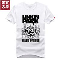 Summer t linkin park 100% cotton short-sleeve T-shirt male Women
