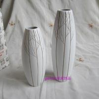 Free shipping Quality wooden floor vases Hand Carved Simple Flower Vase Home Decoration Stem Vase H14
