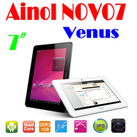 by dhl or ems 30 pieces ainol novo7 venus 7 inch Android 4.1 Actions Quad Core 1280x800 IPS Dual Camera WIFI tablet pc