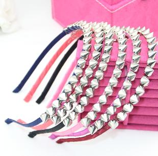 2013 HARAJUKU punk rivet hair bands hair accessory leather rivets broadside hair pin(China (Mainland))