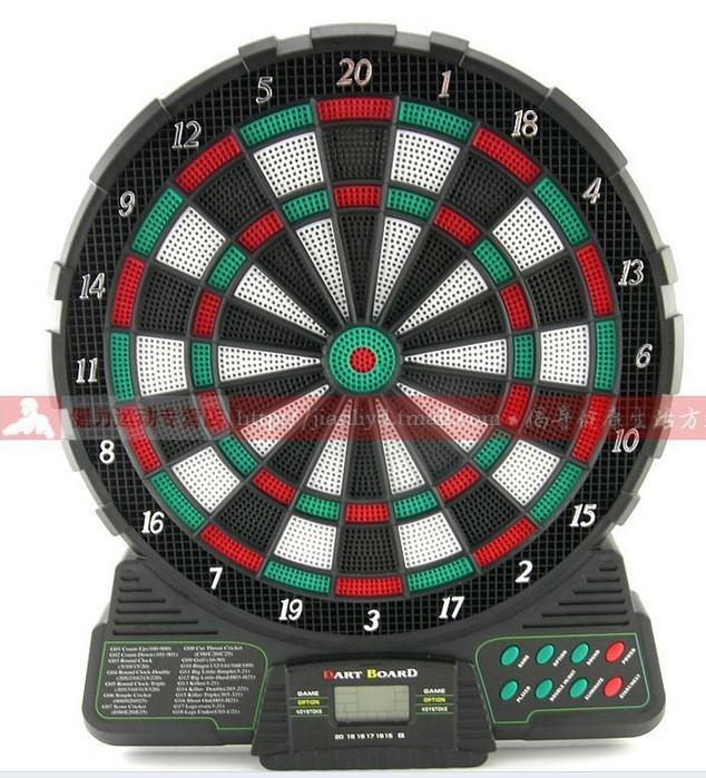 Best selling! ELECTRONIC DART BOARD & SCORER 37 game 1LED 6 dart Free shipping 1pcs(China (Mainland))