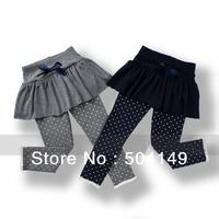 Free shipping Wholesale Princess girl pantskirt leggings tights pants girls kids baby trousers skirt 5pcs/lot