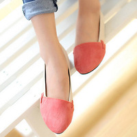 Boat shoes women's shoes fashion flat dipper shoes color block single shoes single shoes small leather flat heel autumn shoes