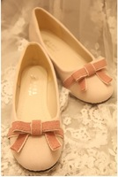 2013 spring new arrival low-top shoes boat shoes flat heel round toe single shoes sweet bow flat shoes shallow mouth female
