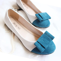 Flat heel four seasons princess single shoes all-match round toe shoes shallow mouth comfortable flat work shoes