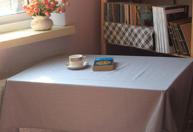Brief grey small stripe table cloth tablecloth gremial table cloth dining table cloth customize(China (Mainland))