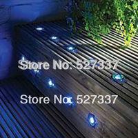 Free Shipping! 12 Volt Blue LED Deck Light Kit 30MM Recessed LED Decking Light Set :60pcs Light & 2pcs Power Supply All Included
