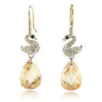 Day gift aixia all-match crystal earrings female earrings