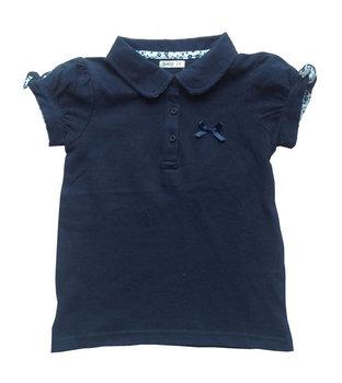2013 new summer children's tennis shirt cotton short-sleeved T-shirt Girls Large child dark blue white  Specials Free shipping