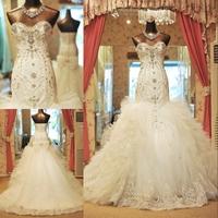 DMR027 Dreamaker sweetheart mermaid trumpet swarovski crystal wedding dress