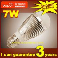 Free shipping Hottest BOPO 7W E27 B22 85~265V Ultra bright LED bulb aluminum 110V 220V LED lamp high low power led light