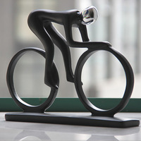 Resin sports figure decoration fashion home doll bicycle decoration gift