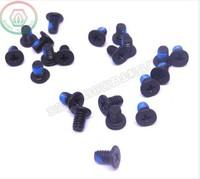 2000pcs/lot M1.4*1CM Thin flat head philips machine screw phone screw steel nylon patch nylock