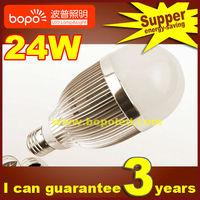 Free shipping Hottest BOPO 24W E27 B22 85~265V Ultra bright LED bulb aluminum 110V 220V LED lamp high low power led light