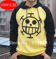 Free shipping ONE PIECE Trafalgar Law costume Anime cotton jacket Hoodie Sweatshirt and hat to choose mask