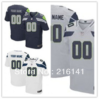 Free/Fast Shipping,Sewn On 2012 New Brand Custom Seattle Elite Jerseys,Size:40,44,48,52,56,60.Accept Drop Shipping.