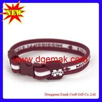 Fashion Braided Mississippi State Bulldogs 8.5 Titanium Bracelet