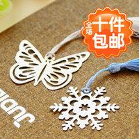 Small fresh 4552 bookmark metal vintage classical tassel bookmark gift