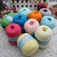 Free shipping ~ Cotton thread jonadab baby line xinjiang long-staple cotton baby yarn hook needle knitting line 25 90g/pcs