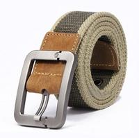 Free Shipping   Men's belt buckle belt canvas belt, men and women style leisure needle