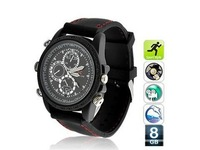 Free Shipping Hot Selling Mini 8GB Memory Sport DV Waterproof Watch Camera DVR