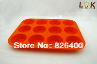 Free shipping wholesale DIY12 round silicone cake mold / cake mold / muffin mold / soap mold / silicone bakeware