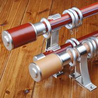 Curtain rod aluminum alloy rod rome single double rod brief curtain holder cylindrical