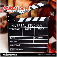 Free shipping Clapperboard props wool director board plate Studio props photography props plate clapperboard director board
