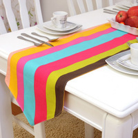 wholesale fashion rustic 100% cotton table runner/ luxury hotel supplies/cheap table runners  free shiping