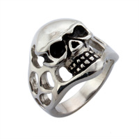 punk stainless steel skull rings fashion jewelry  finger rings for men  cool rock ring