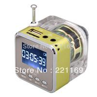 NIZHI TT028 MINI Multimedia SPEAKER LCD USB FM Radio for MP3 USB Micro SD/Flash  30pcs free shipping