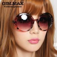 Gimmax vintage circle flower sunglasses large frame sunglasses non-mainstream male Women sunglasses