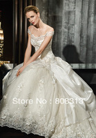 Beautiful Lace Off the shoulder Off-the-shoulder Applique Wedding Dress Bridal Gown ball Size Free New