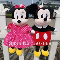 20pcs/Lot Children backpack/cartoon double shoulder pack/wool cloth with soft nap bag/Minnie/mickey small bags