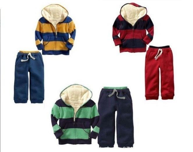 Brand Kids winter wear more designs/colors Hoodies+pant 2pcs set baby suit hoodies clothes children sport wear(China (Mainland))