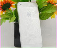 10pcs/(5 Front +5 Back)lot 3D Rhomb effect Full Body Diamond Clear Film Screen Protector For iphone 5 5s