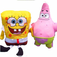 Free Shipping Super lovely spongebob and sent great stars plush toys 45cm