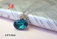 Hot sell CY032 free shipping Oval necklace Fashion Special Austrian Crystal SWA Element Super price