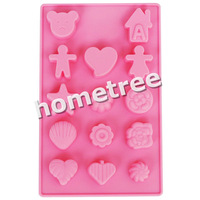 Free Shipping Wholesale Silicone Mould Mold Chocolate Cake Pan Cupcake Muffin Cookie Candy Soap Jelly Ice Cube QKL-020