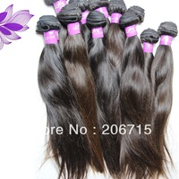 queen hair products grade 5A unprocessed brazilian virgin hair straight tangle free natural color 100g
