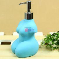 ceramic bottle of hand sanitizer / Soap / emulsion bottle kneeling