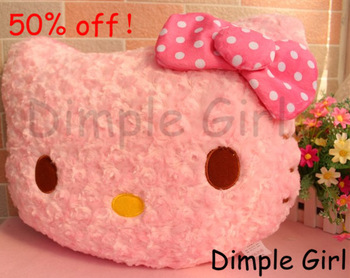 new year gift xmas wedding soft cat doll polka dot pink bow hello kitty cushion pillow car accessories bed decoration peluche