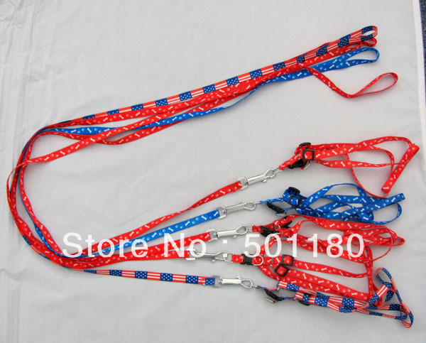 Free shipping pet product dog leash training dog leash nylon dog leash and collar(China (Mainland))