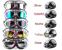 motorcycle goggle GOGGLES racing bicycle bike Scooter Steampunk Cruiser Helmet  Eyewear glasses
