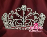 beauty pageant rhinestone crown tiara queen princess headdress mo-086