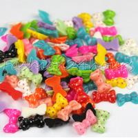 New 100pcs/pack 12 Mixed Colors Nail Resin Polka Dot Decoration Cell phone DIY Decoration Free Shipping