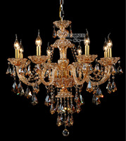 Modern brief crystal stained glass chandelier free shipping MD8221A