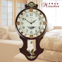 EMS free shipping Fashion antique fashion clock rustic Large mute clock personalized modern quartz watches and clocks
