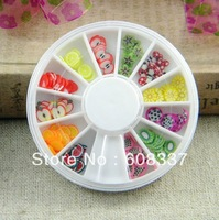 Free shipping DIY accessories 3 boxes /lot around  the small plate of fruit slices polymer clay beads pottery/phone beauty